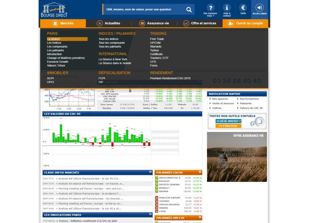 Comment ouvrir un compte chez bourse direct pour investir ?