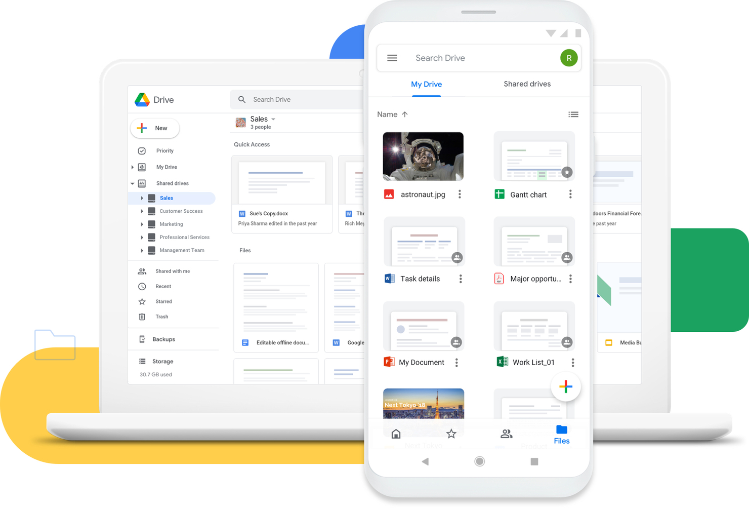 Point pour Google Drive