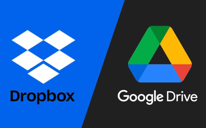 Dropbox VS Google Drive : quel est le meilleur stockage Cloud ?