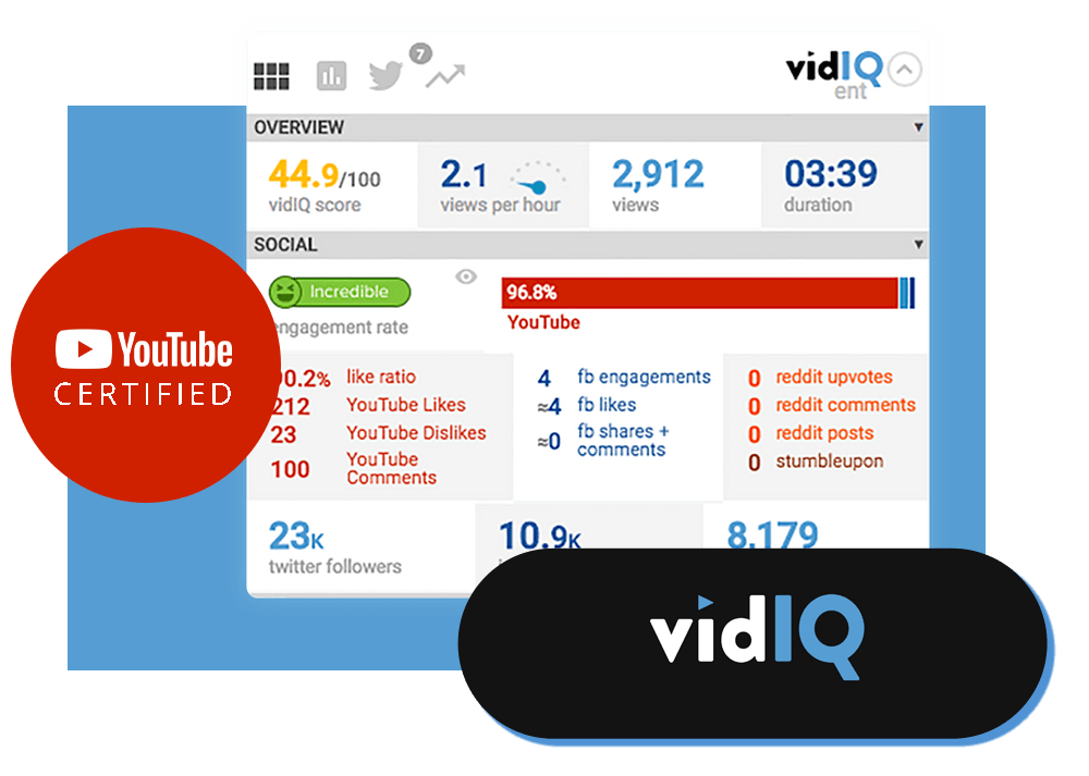 Les outils de Maxence Rigottier : VidIQ